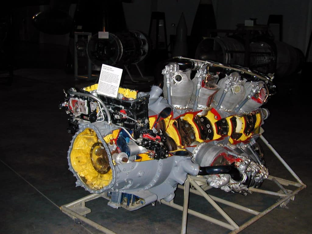 Another Pratt & Whitney R-4360 Wasp Major from another crashed plane.
