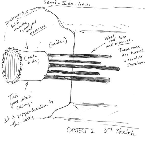 These are the sketches of what I perceived to be the cause of the crash